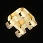 Złota lampa przysufitowa led regulowane lampiony demarkt techno 704010704
