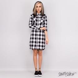 Sukienka uc flanell dress blkwht