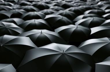 Morze parasolek - fototapeta