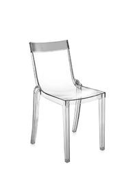 Krzesło Hi-Cut przezroczyste z przydymionym paskiem