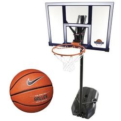 Zestaw kosz do koszykówki lifetime boston 90001 mobilny regulowany + piłka nike baller 8p