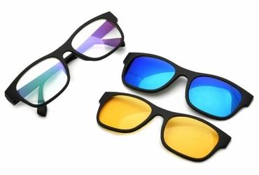 Nakładka polaryzacyjna + nakładka rozjaśniająca + oprawki okularowe zerówki z antyrefleksem st1230