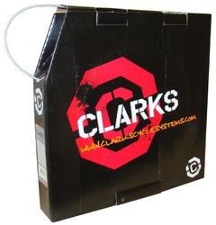 Pancerz hamulca clarks 2p 5mm z teflonem srebrny na metry
