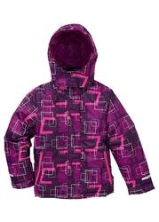 Kurtka chłopięca narciarska nieprzemakalna i wiatroszczelna bonprix lila-śliwkowy-neonowy różowy