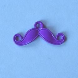Modne wąsy 14x28 mm - zawieszka - fiolet - FIO