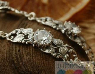 Frodia - srebrna bransoletka z kryształem swarovskiego
