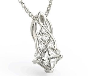 Wisiorek z białego złota z brylantami bpw-86b - białe  diament