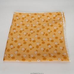 Żółta poszetka jedwabna w kwiaty