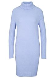 Sweter z golfem bonprix perłowy niebieski