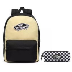 Plecak szkolny vans realm golden haze-black + piórnik pencil pouch