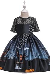 Kostium czarownica, przebranie na halloween lub bal przebierańców, sukienka czarownicy
