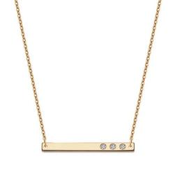 Staviori naszyjnik belka. cyrkonia. żółte złoto 0,333. wymiary 19x1,9 mm. średnica 0,9 mm.  długość regulowana 45cm lub 42cm.