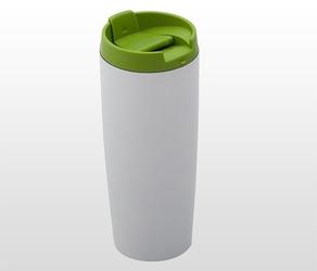 Kubek termiczny 390 ml lady plus biało-zielony