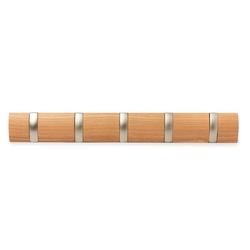 Wieszak na ubrania flip - naturalny - jasne drewno