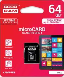 Karta pamięci micro sdxc 64gb goodram klasa 10 uhs1 m1aa-0640r11