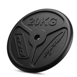 Obciążenie żeliwne 20 kg slim mw-o20-slim - marbo sport