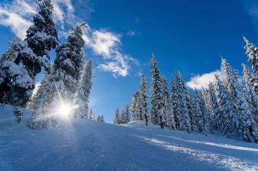 Fototapeta na ścianę pełne słońce w górach fp 1506