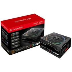 Thermaltake Zasilacz Smart Pro RGB 650W Modular 80+ Bronze, 4xPEG, 140mm, Single Rail