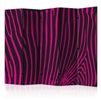 Parawan 5-częściowy - zebra pattern fioletowy room dividers