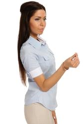 Klasyczna koszula z krótkim rękawem - błękitny