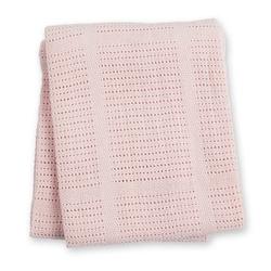 Tkany kocyk lulujo - różowy