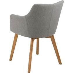 Tapicerowane krzesło z podłokietnikami bella