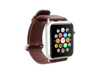 Pasek skórzany klasyczny Apple Watch 38mm - Brązowy