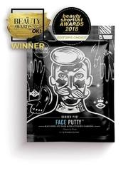 Barber pro face putty black peel-off mask - peelingująca maska z węglem aktywowanym 3x7g