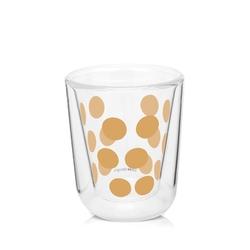 Zestaw 2 szklanek 75 ml z łyżeczkami złoty dot dot zak designs