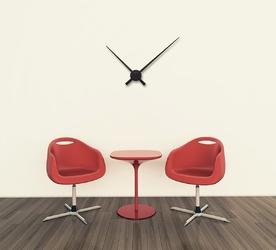 Duży zegar ścienny mechanizm i wskazówki hands nextime 90 cm, czarny 2269 zw