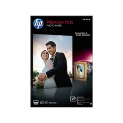 Papier fotograficzny hp premium plus, błyszczący – 25 arkuszy10 x 15 cm