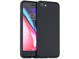 Etui alogy mat silicone case apple iphone 78 czarne + szkło