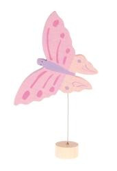 Drewniana figurka, motylek, różowy, grimms