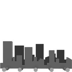 Wieszak ścienny Skyline CalleaDesign szary 52-13-1-3