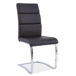 Krzesło Awinion czarne ekoskóra