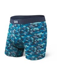 Bokserki męskie saxx undercover boxer br fly blue water camo - niebieski