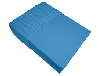 Prześcieradło jersey z gumką bielbaw błękitny 055 140 x 200