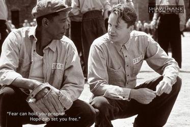 Skazani na Shawshank - Tim Robbins, Morgan Freeman - plakat