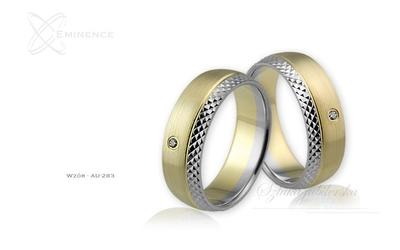 Obrączki ślubne - wzór au-283