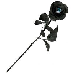Czarna róża z okiem -  długość 52 cm, kwiat sztuczny