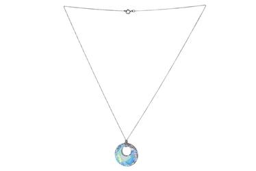 Naszyjnik srebrny z kryształem swarovskiego