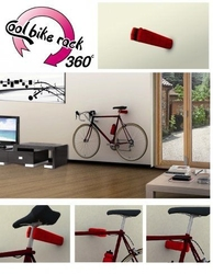 Rowerowy wieszak ścienny cool bike rack biały