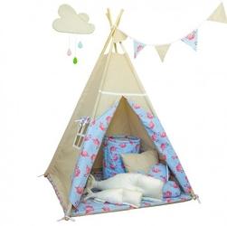 Namiot tipi dla dziecka wakacyjne przygody - zestaw mini