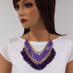 Naszyjnik kolia violet tassel - VIOLET
