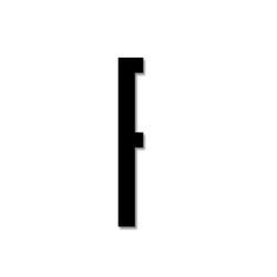 Litera czarna akrylowa 8 cm Design Letters F