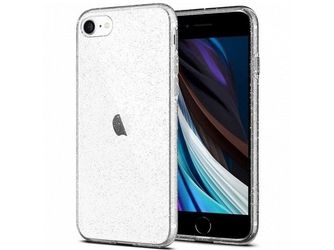 Etui spigen liquid crystal glitter do apple iphone 78se 2020 crystal quartz - przezroczysty