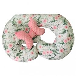 Poduszka ciążowa do karmienia w ciąży kwiaty zestaw