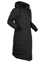 Płaszcz pikowany funkcyjny, outdoorowy bonprix czarny