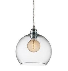 Lampa wisząca rowan - przeźroczysta ze srebrem, ø22cm
