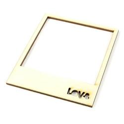 Drewniana ramka z napisem love - 9x11 cm